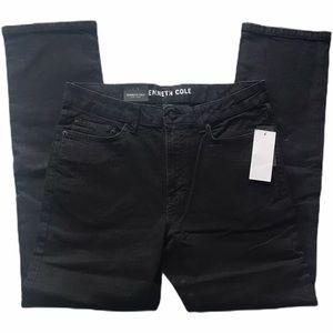 Kenneth Cole Stretch Straight Leg Jeans Black 32